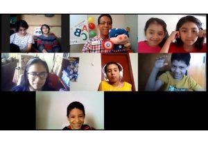 Virtual classes in Kids ALIVE Peru